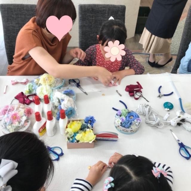 4月21日(日)FlowerBOX&ヘアアクセサリー作り