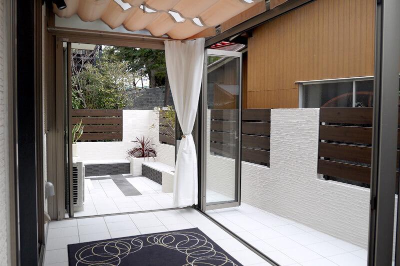 名古屋市緑区の施工事例 南国のテラスで贅沢気分