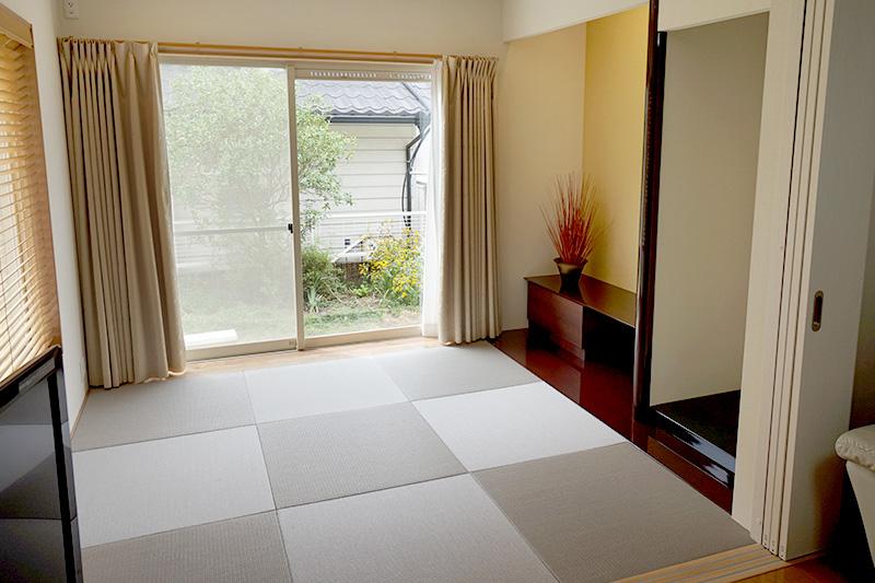 名古屋市緑区の施工事例 庭に増築した6畳の和室