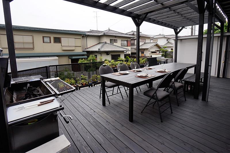 東郷町の施工事例 ご夫婦の趣味を取り入れたお気に入りのウッドデッキ