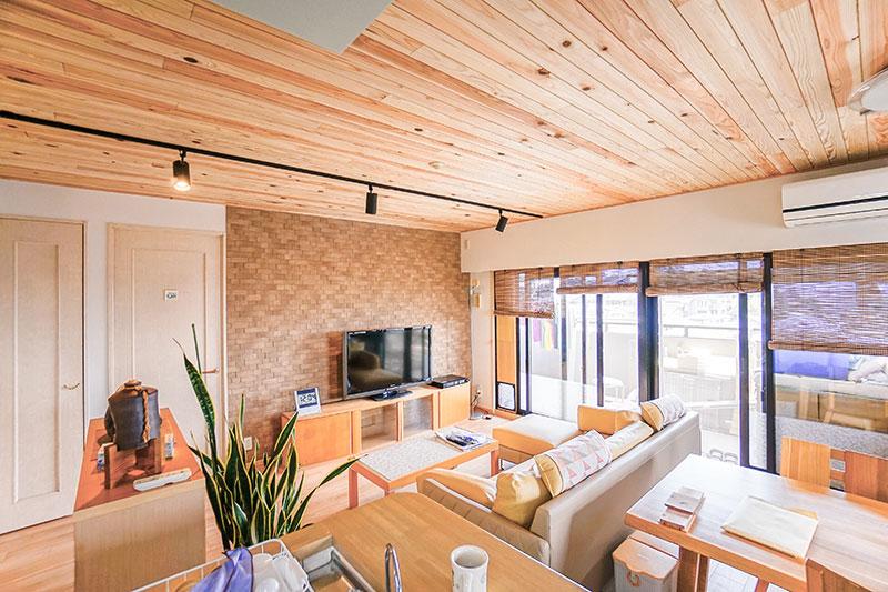 名古屋市天白区の施工事例 天然素材で温かみのある空間をデザイン