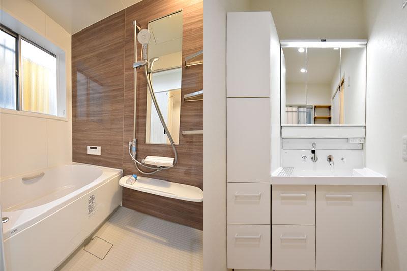 お風呂も洗面台もリフォーム