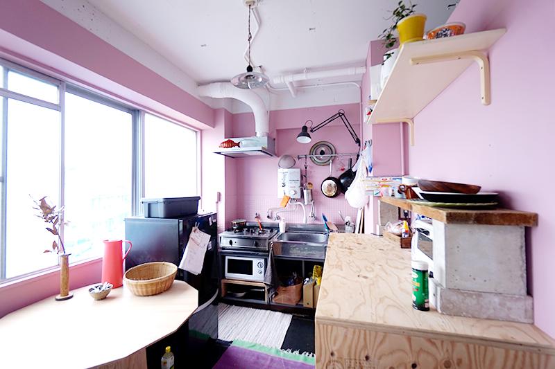 手作りのキッチン